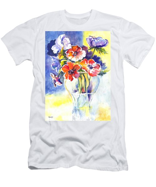 Men's T-Shirt (Slim Fit) featuring the painting Cosmos I by Carol Wisniewski