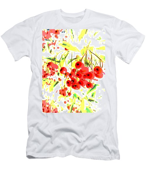 Cotoneaster Men's T-Shirt (Slim Fit) by Barbara Moignard