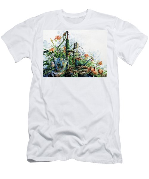 Men's T-Shirt (Athletic Fit) featuring the painting Country Charm by Hanne Lore Koehler