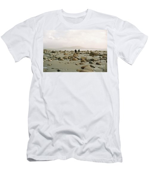 Men's T-Shirt (Slim Fit) featuring the photograph Couple And The Rocks by Rebecca Harman