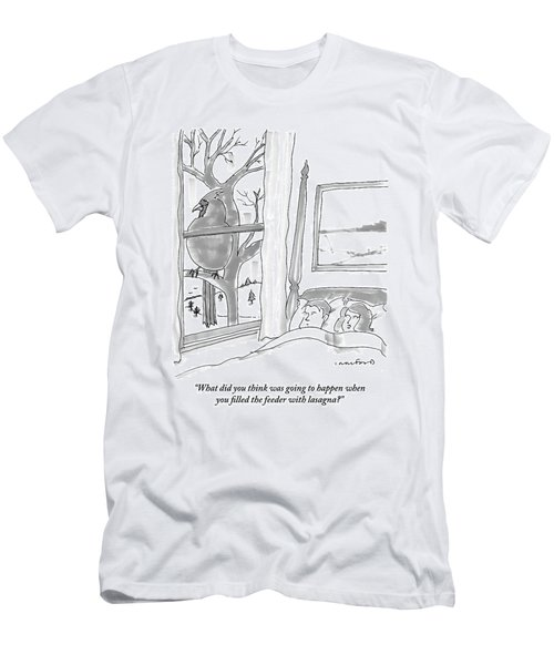 Couple In Bed Men's T-Shirt (Athletic Fit)