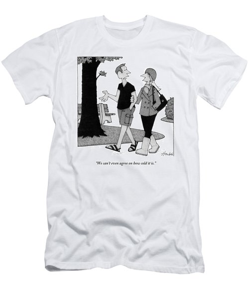 Couple Taking Walk Men's T-Shirt (Athletic Fit)