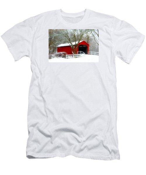 Cover Bridge Beauty Men's T-Shirt (Slim Fit) by Peggy Franz