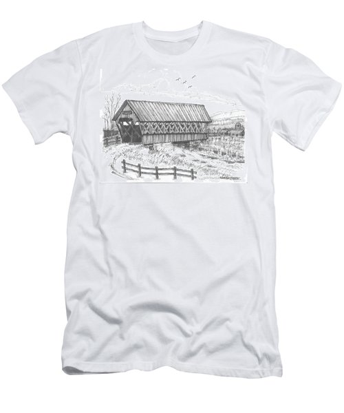 Covered Bridge Coventry Vermont Men's T-Shirt (Athletic Fit)