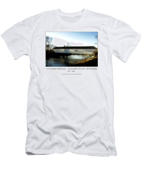 Covered Bridge - Elizabethton Tennessee Men's T-Shirt (Athletic Fit)