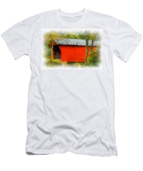 Covered Bridge - Sinking Creek Men's T-Shirt (Athletic Fit)