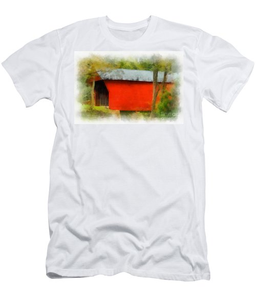 Covered Bridge - Sinking Creek Men's T-Shirt (Athletic Fit)