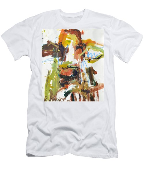 Cow With Green And Brown Men's T-Shirt (Athletic Fit)