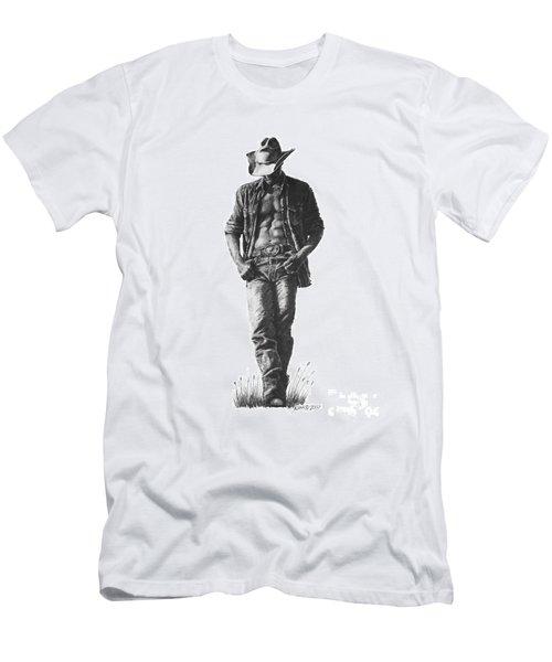 Cowboy Men's T-Shirt (Athletic Fit)