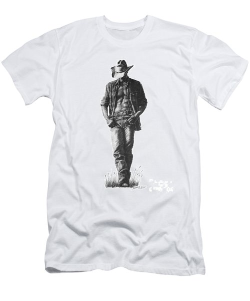 Cowboy Men's T-Shirt (Athletic Fit)