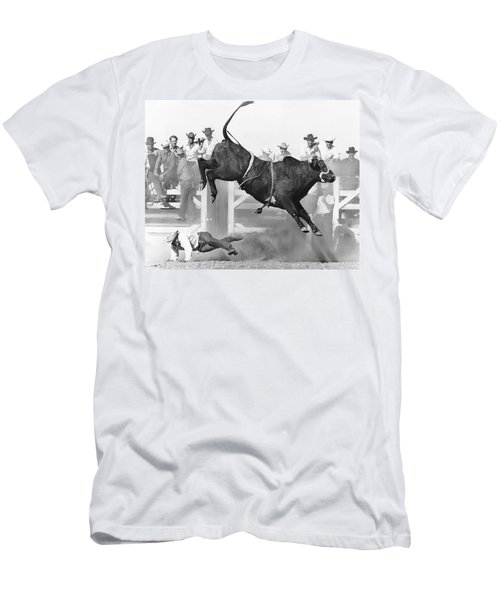 Cowboy Riding A Bull Men's T-Shirt (Athletic Fit)
