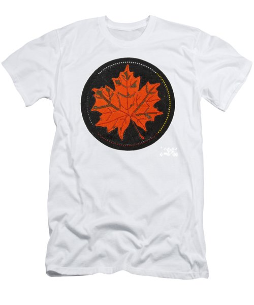 Cradleboard Beadwork Fall Maple Leaf Men's T-Shirt (Athletic Fit)