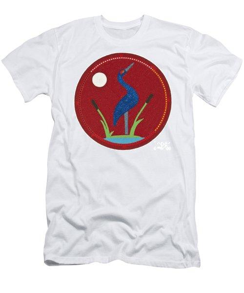 Cradleboard Beadwork Summer Crane Men's T-Shirt (Athletic Fit)
