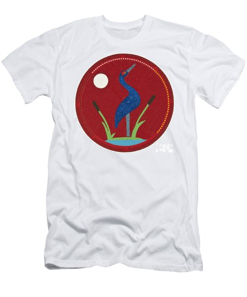 Cradleboard Beadwork Summer Crane Men's T-Shirt (Athletic Fit)