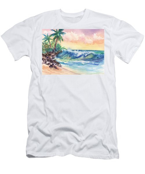 Crashing Waves At Sunrise Men's T-Shirt (Athletic Fit)