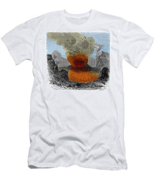 Crater Of Vesuvius Men's T-Shirt (Athletic Fit)