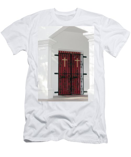 Key West Church Doors Men's T-Shirt (Athletic Fit)