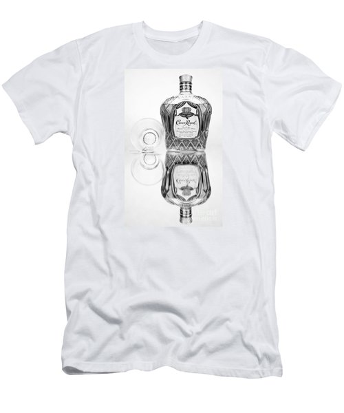 Crown Royal Black And White Men's T-Shirt (Athletic Fit)