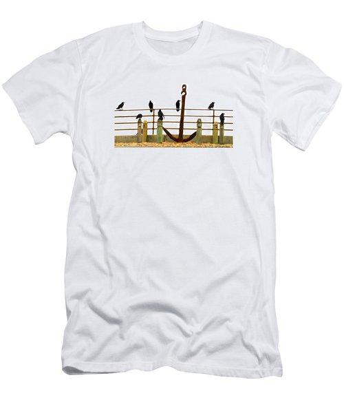 Crows At Anchor Men's T-Shirt (Slim Fit) by John King