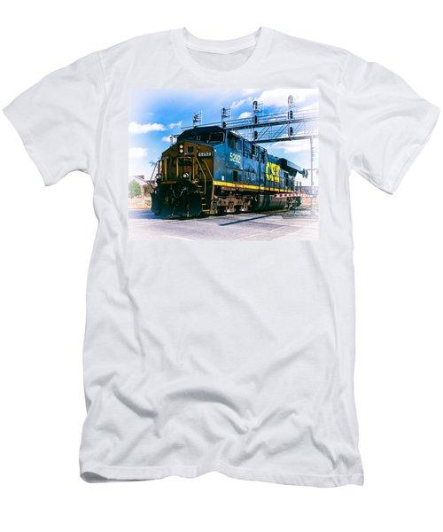 Csx 5292 Warner Street Crossing Men's T-Shirt (Athletic Fit)