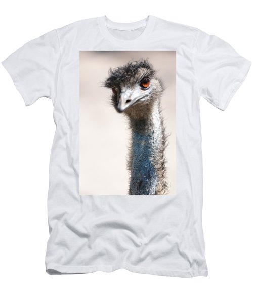 Curious Emu Men's T-Shirt (Slim Fit) by Carol Groenen