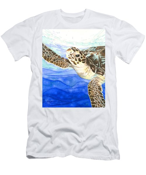 Curious Sea Turtle Men's T-Shirt (Athletic Fit)