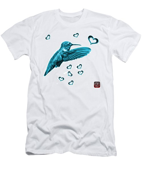 Cyan Hummingbird - 2055 F S M Men's T-Shirt (Athletic Fit)