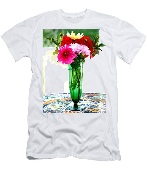 Dahlias On A Table In The Sun Men's T-Shirt (Athletic Fit)