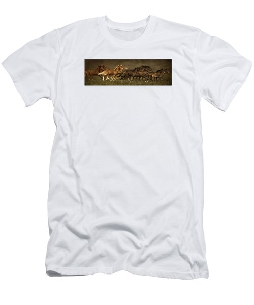 Men's T-Shirt (Slim Fit) featuring the digital art Daily Double by Priscilla Burgers