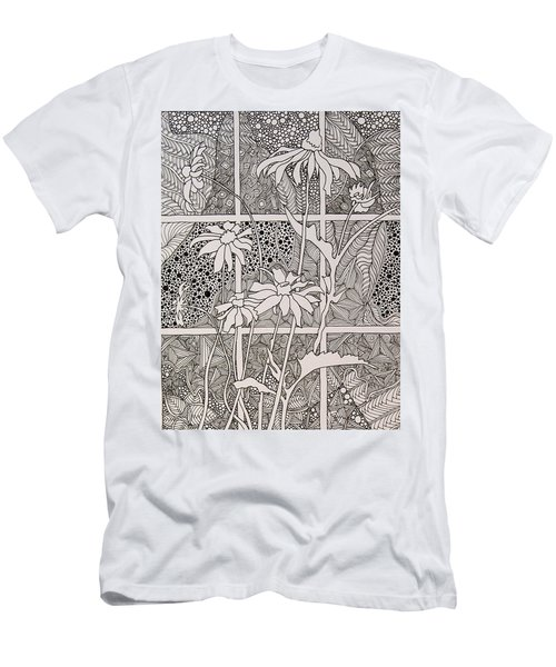 Daisies In A Window Men's T-Shirt (Athletic Fit)