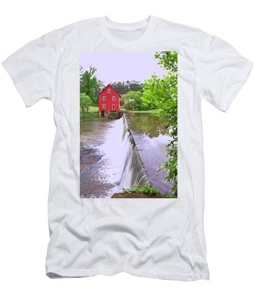 Dam At Starrs Mill Men's T-Shirt (Slim Fit) by Gordon Elwell