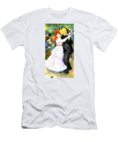 Dance At Bougival Men's T-Shirt (Slim Fit) by Pierre Auguste Renoir