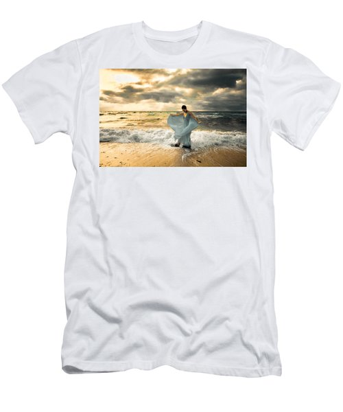 Dancing In The Surf Men's T-Shirt (Athletic Fit)