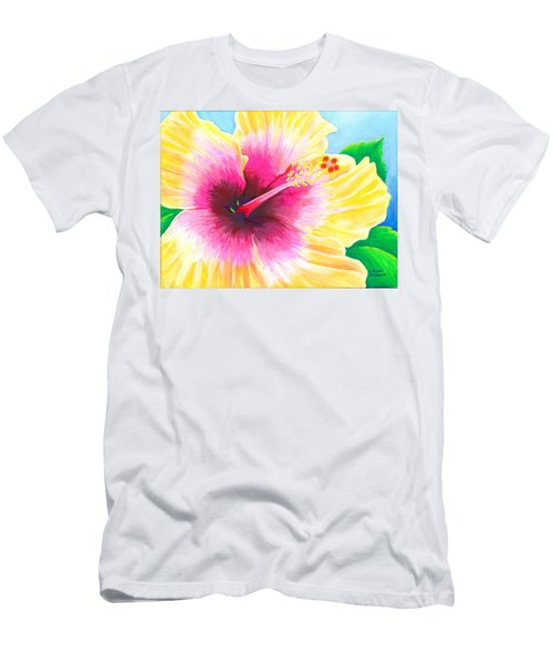 Dan's Hibiscus Men's T-Shirt (Athletic Fit)