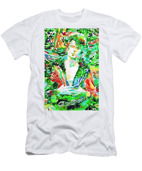 David Bowie Watercolor Portrait.2 Men's T-Shirt (Athletic Fit)
