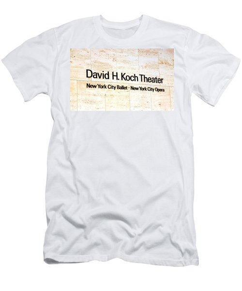 David H. Koch Theater Men's T-Shirt (Slim Fit) by Valentino Visentini