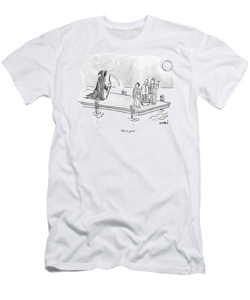 Death Approaches Two Mobsters Threatening A Man Men's T-Shirt (Athletic Fit)