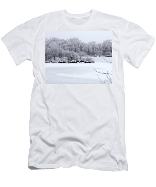 December Lake Men's T-Shirt (Slim Fit) by Debbie Hart