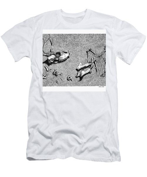 Deer Bones Men's T-Shirt (Slim Fit) by Daniel Reed