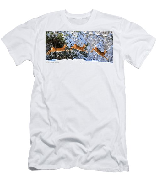Deer Jump Men's T-Shirt (Athletic Fit)