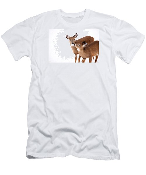 Deer Kisses Men's T-Shirt (Slim Fit) by Karol Livote