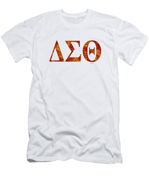 Delta Sigma Theta - White Men's T-Shirt (Slim Fit) by Stephen Younts