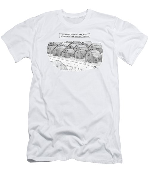 Demand For Reclaimed Barnwood Causes Wave Of New Men's T-Shirt (Athletic Fit)