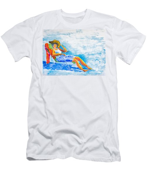 Dena At The Beach Men's T-Shirt (Athletic Fit)