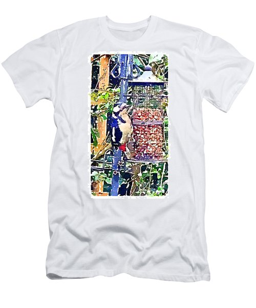 Dendrocopos Major 'great Spotted Woodpecker' Men's T-Shirt (Athletic Fit)