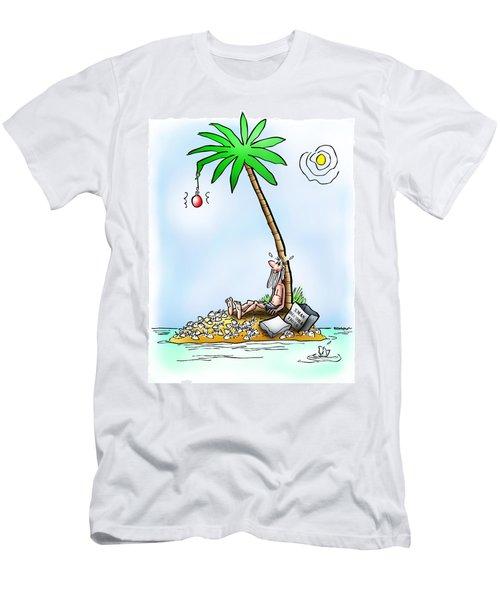 Desert Island Christmas Men's T-Shirt (Athletic Fit)