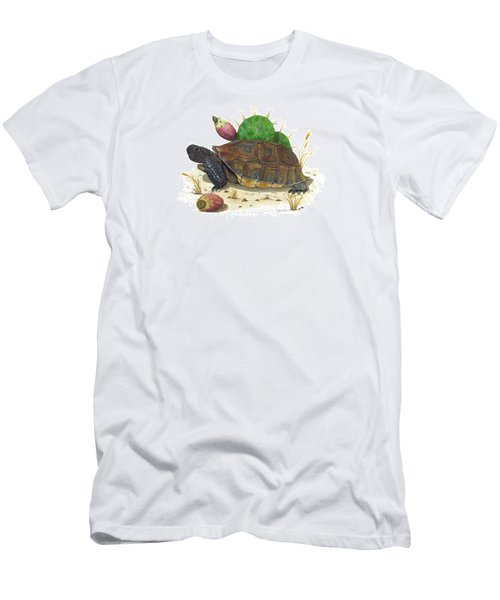Desert Tortoise Men's T-Shirt (Slim Fit) by Cindy Hitchcock