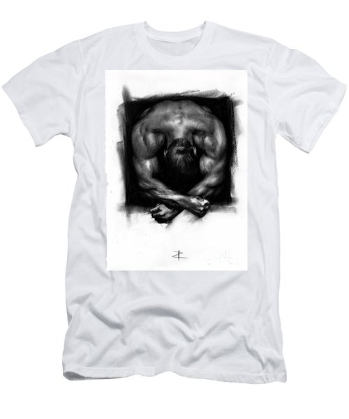 Men's T-Shirt (Slim Fit) featuring the drawing Despondent by Paul Davenport