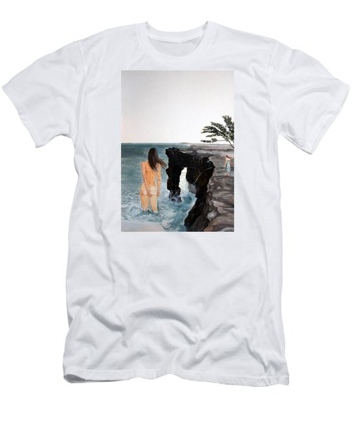 Destinos Men's T-Shirt (Slim Fit) by Lazaro Hurtado