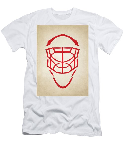 Detroit Red Wings Goalie Mask Men's T-Shirt (Athletic Fit)
